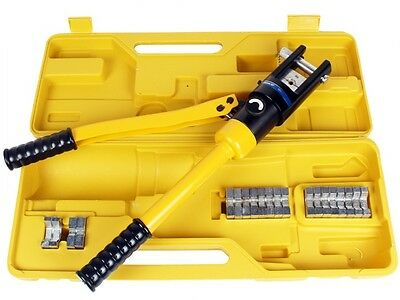 16 Ton Hydraulic Wire Crimper Crimping Tool Battery Cable Lug Terminal W11 Dies