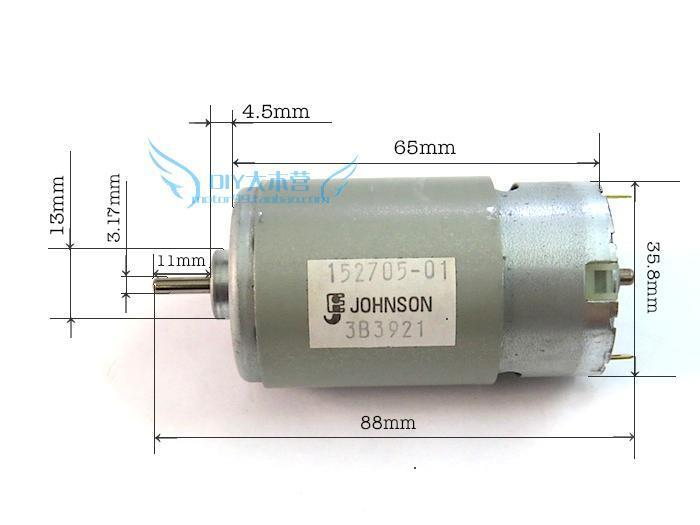 JOHNSON Motor RS-570 VC for various cordless screwdriver Makita,Bosch,DEWALT
