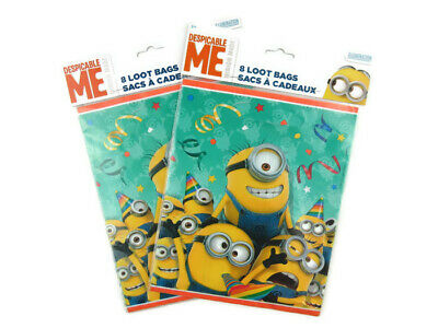 Despicable Me Minion 8 Loot bags Lot of 2 Goody Treat Sacks Favor Birthday Party](Despicable Me Treat Bags)