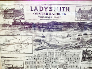 1960 map of Ladysmith harbor, chemainus bay and Dodds Narrows