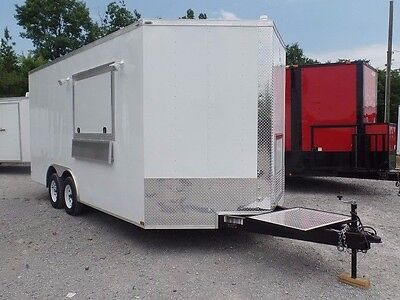 Concession Trailer 8.5 X 16 White Food Event Catering Elite
