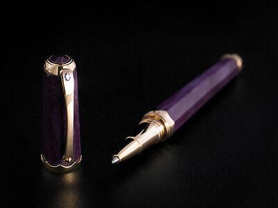 "Montegrappa 18K Rose Gold ""Piccola Gemma"" Sapphire Rollerball Pen.  ISPGCRRL"