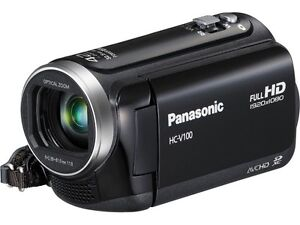 New Panasonic HC-V100 Full HD Digital Camcorder Black SD Card Viera Video Camera