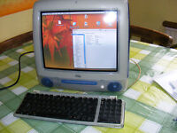 Retro vintage Indigo Blue Apple G3 iMac computer