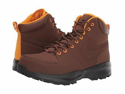 Nike Men's Monoa Leather Boots Dark Brown/Velvet Brown/Black/Orange 454350-203 Orange Black Leather