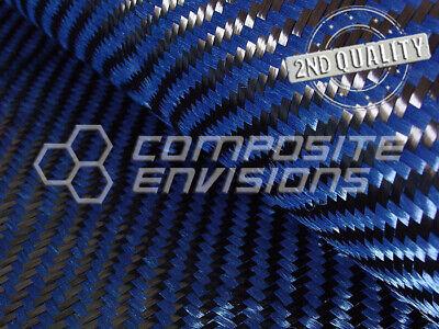 2nd Quality Carbon Fiberblue Aramid Fabric 2x2 Twill 3k 50127cm 5.5oz186gsm