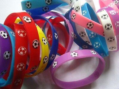 20pcs mixed lot kids colorful football sport rubber band wristbands bracelets