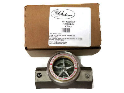 DWYER INSTRUMENTS SFI-300SS-3/4 Midwest Sight Flow Indicator, Bronze, A51AA