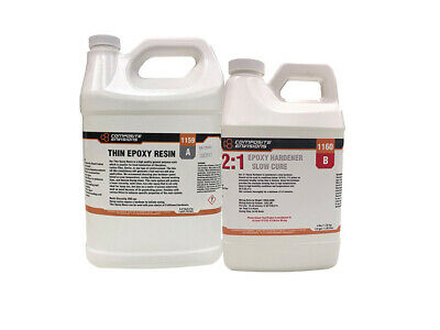 21 Two Part Thin Epoxy Resin System Kit For Carbon Fiberfiberglass 1.5 Gallons