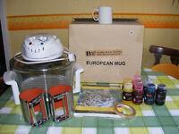 Sublimation mug printing hobby items: mugs, mug oven, mug clamps, ArTainium inks, paper, tape
