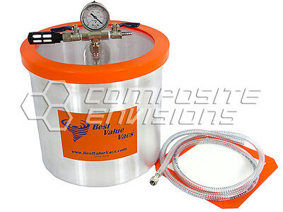Vacuum Chamber Degassing Pot - Aluminum 3 Gallon