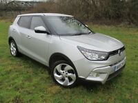 2015 15 Ssangyong Tivoli 1.6 ELX 5Door - Silver Metallic, Low Miles