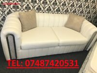 WHITE LEATHER SOFA 3 + 2 + CHAIR