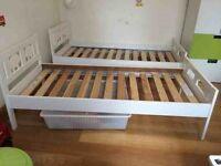 2 IKEA KRITTER childrens beds and mattress 30 each.