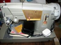 Super 317K Electric SINGER Sewing Machine With Case (cabinet)