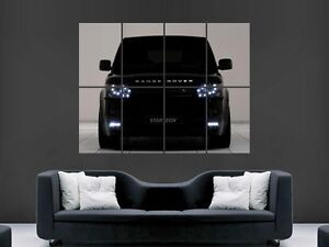 BLACK RANGE ROVER SPORT 4X4 CAR  ART WALL PICTURE POSTER  GIANT HUGE