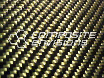Carbon Fiber Panel Made With Kevlar Yellow .0561.4mm 2x2 Twill-epoxy-12x24
