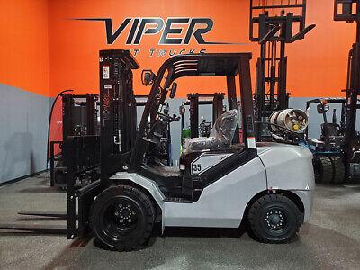 2020 Viper Fy35 8000lb Dual Drive Pneumatic Forklift Lpg Lift Truck Hi Lo 89189