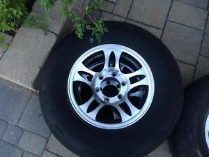 ST 225/75 R15 Aluminium 6 Bolt Rims and Tires London Ontario image 1