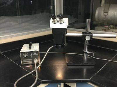 Bausch Lomb Stereozoom 7 Microscope With Fiber Light Tested
