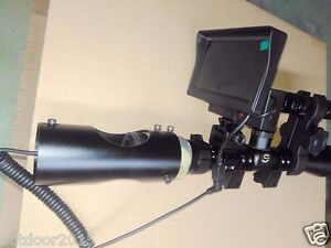 DIY Night Vision Scope Rifle Scope Add On Device w Infrared Flashlight & Screen