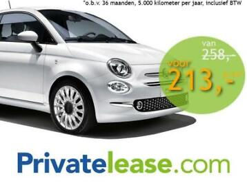 Private lease Fiat 500 AUTOMAAT Occasion met NAV!