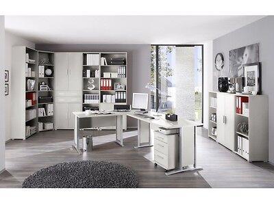 NEU Büro Office Line Megaset Lichtgrau Büromöbel 11 Teile XXL SET 109769