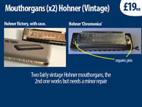 mouthorgans x2 hohner brand