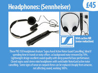 Sennheiser Headphones with Active NR (noise reduction)