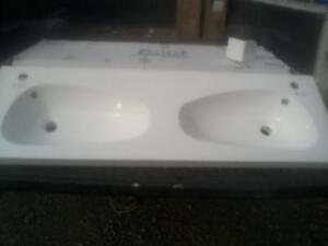 Double Marble Sinks