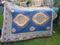 Vintage Afghan/Eastern Wool CARPET 190 x 130cms