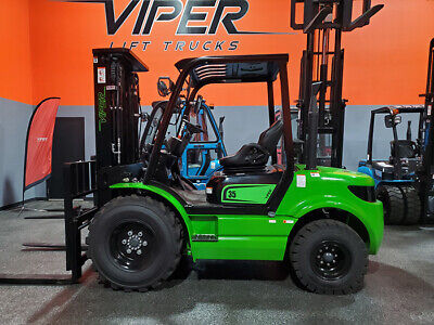 2021 Viper Rtd35 8000lb Air Pneumatic Rough Terrain Forklift Diesel Lift Truck