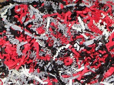 U Pick Size! RED BLACK GRAY WHITE Gift Basket Shred Crinkle Paper Filler Bedding