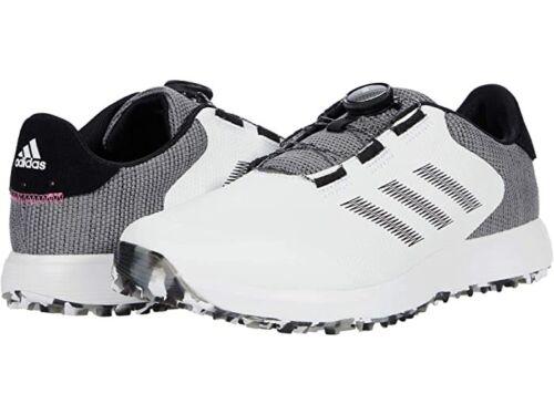 New adidas S2G SL BOA FW6312 White/Black/Grey Spikeless Golf Shoe Wide FREE SHIP