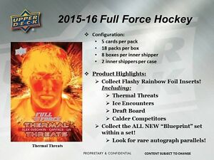 2015-16 Upper Deck Full Force Hockey Trading Cards Box Kitchener / Waterloo Kitchener Area image 2