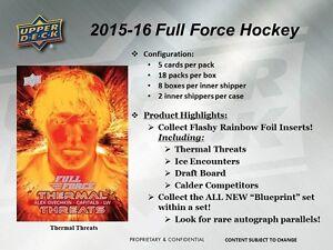 2015-16 Upper Deck Full Force Hockey Trading Cards Box Kitchener / Waterloo Kitchener Area image 2