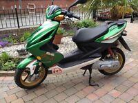 Rare scooter mbk nitro 50cc Eddie Irvine colours no miles never used £1699