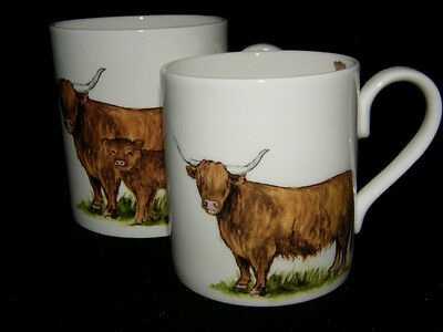 BN Highland Cow Bone China Mug, Small/medium mug, Scottish Gift, Highland Cow Small Bone China