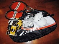 CARNELIAN TENNIS PACKAGE,RACKETS,BAG,STRING,OVERGRIPS,HAT, NEW
