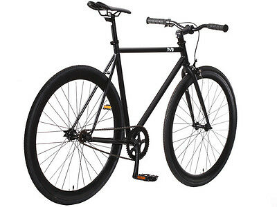 New 50cm Steel Track Fixed Gear Bike Fixie Single Speed Road Bicycle Black/Black