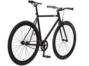 New 54cm Steel Track Fixed Gear Bike Fixie Single Speed Road Bicycle Black/Black