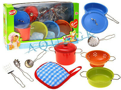 Küche Geschirr Kochzubehör  Kinderküche Kochtopf Töpfe 9 tlg. Geschenk NEU