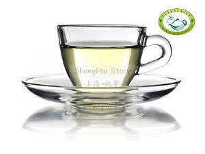 GlowHi-Heat-Resistant-Glass-Tea-coffee-cup-w-Saucer-D06-100ml-3-4-fl-oz