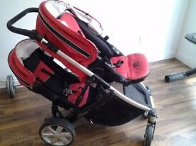 britax b dual double buggy with accessories