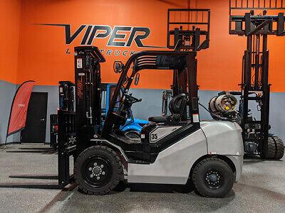 2020 Viper Fy35 8000lb Air Pneumatic Forklift Lpg Lift Truck Hi Lo 89189