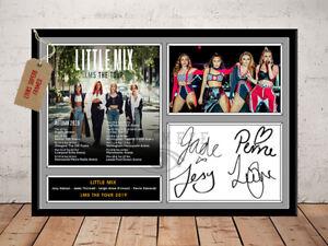 LITTLE MIX LM5 TOUR 2019 AUTOGRAPHED SIGNED MUSIC PHOTO PRINT
