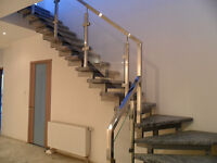 Stainless steel and Glass railings