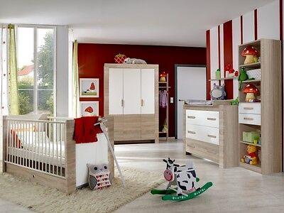Babyzimmer Emily Weiß 6 teilig komplett Baby Set Bett Wickelkommode Schrank 0474 - Emily Baby Möbel