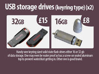 usb storage (pen drives, keyring size) 32 + 16gb