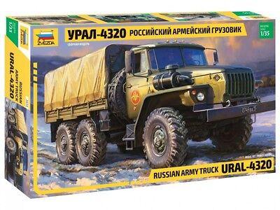 ZVEZDA 3654 - 1/35 URAL-4320 RUSSIAN ARMY TRUCK - NEU
